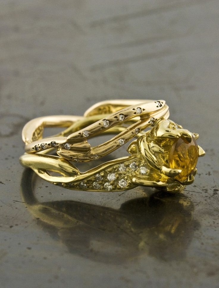17 best images about yellow sapphire engagement rings