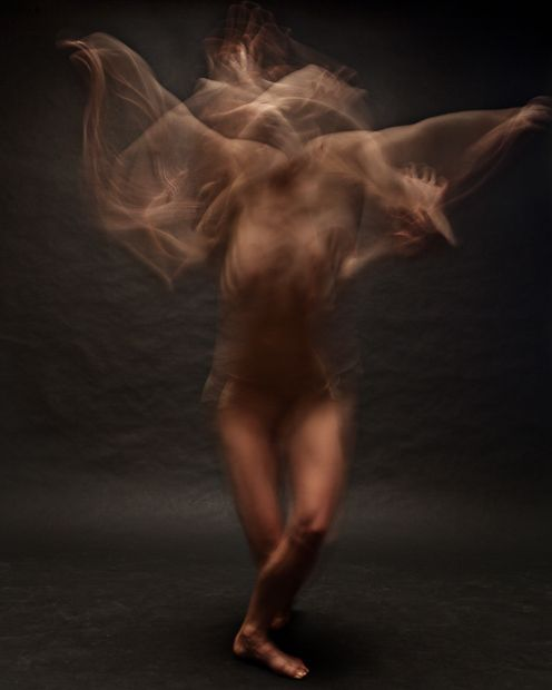 Blurred Long-Exposure Portraits Showing Dancers in Motion by bill wadman