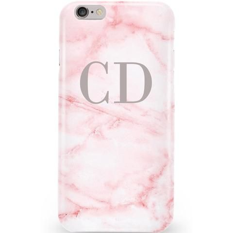 Personalised Cotton Candy Pink Marble Initials Phone Case. available for iPhone x Samsung x iPad x Macbook. CREATE YOUR NOW