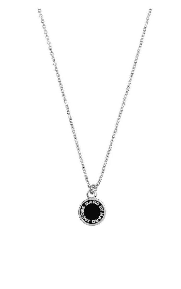 Halsband Enamel Disc Pendant BLACK/SILVER - Marc by Marc Jacobs - Designers - Raglady