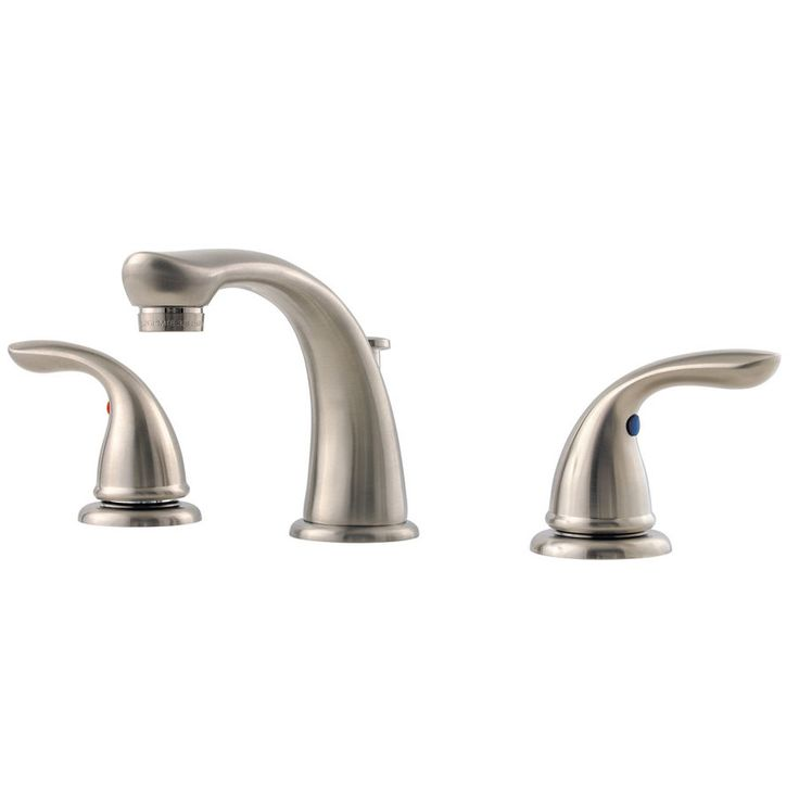 pfister pfirst widespread bathroom faucet includes metal popup drai brushed nickel faucet lavatory single handle