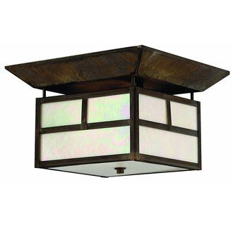 Hinkley Lighting H1199 Asian Themed 2 Light Outdoor Ceiling Fixture from the Pueblo Collection