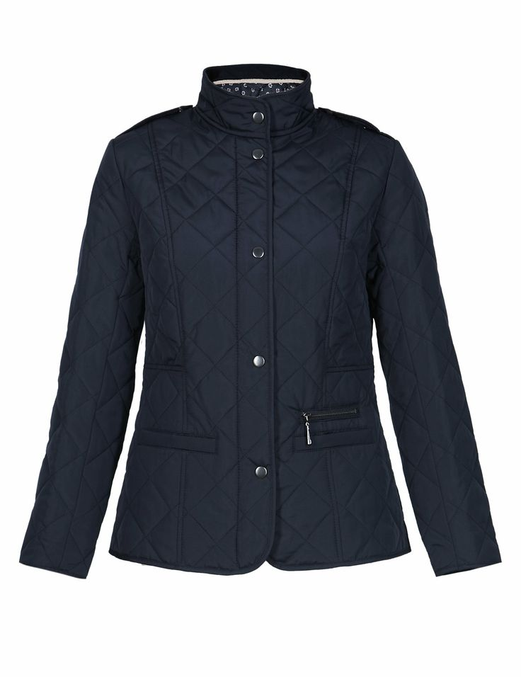Petite Funnel Neck Quilted Jacket with Stormwear™ | M&S