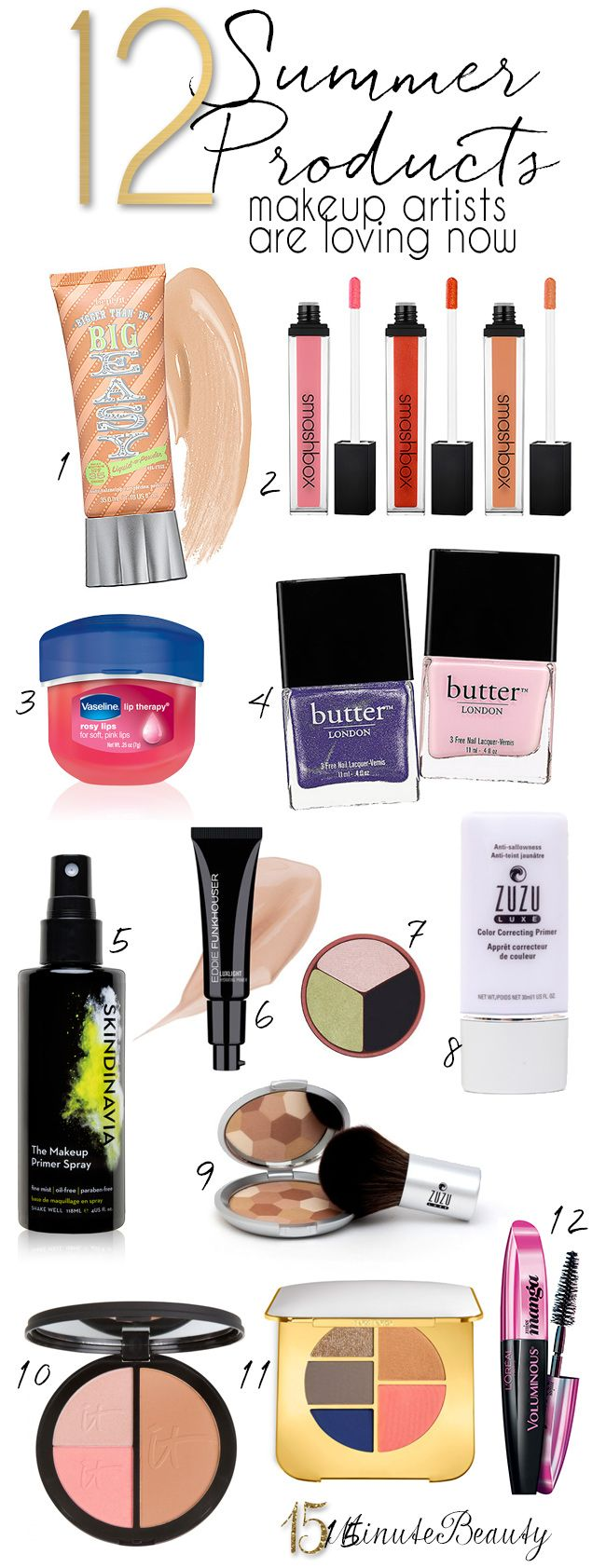 12 New Summer Buys Makeup Artists Are Loving Now via @15MinuteBeauty featuring #eddiefunkhouser
