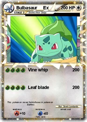 Pokémon Bulbasaur Ex 7 7 - Vine whip - My Pokemon Card
