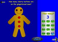 Maths Games - Gingerbread Man Counting
