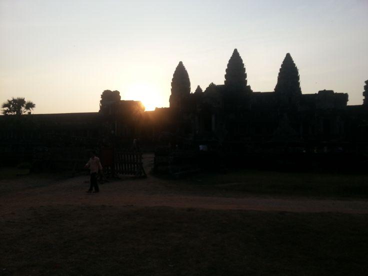 Sunset in Angkor Wat