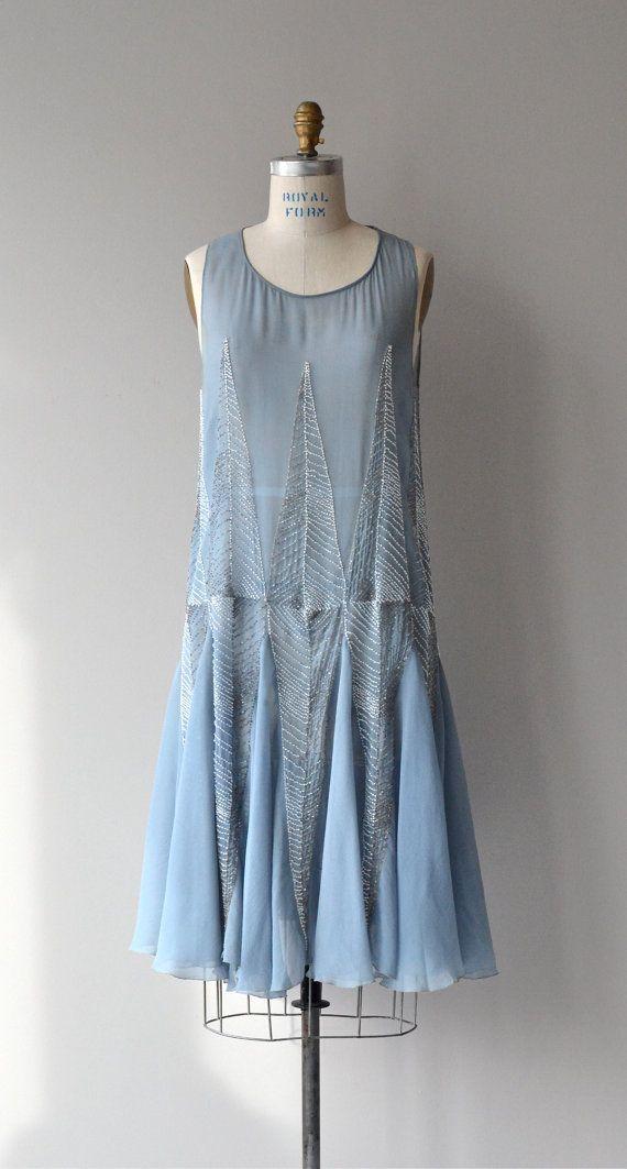 Chartres beaded silk dress vintage 1920s dress by DearGolden