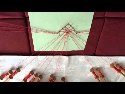 Kantklossen beginnelingen : spin 1 - YouTube