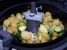 Les Gourmandes Astucieuses (Cuisine végétarienne): Poêlée de Courgettes et Pommes de terre à l'Actifr...