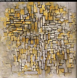 Surreal Art: Piet Mondrian's abstract trees art painting