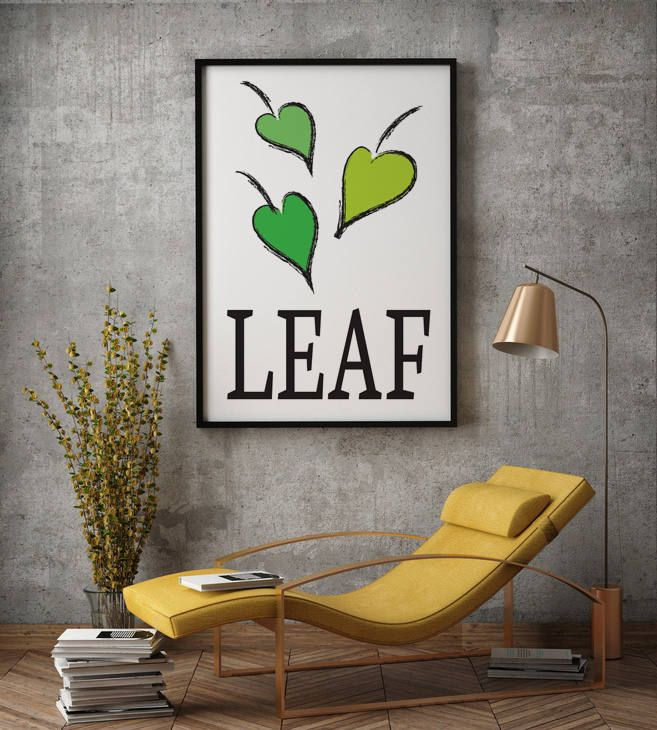 "Poster ""Leaf"", Beautiful poster, Green, Housewarming Gift, Beautiful Poster, Interior Decoration, Floral Poster, Leaves, greenery by MerryGallery on Etsy"