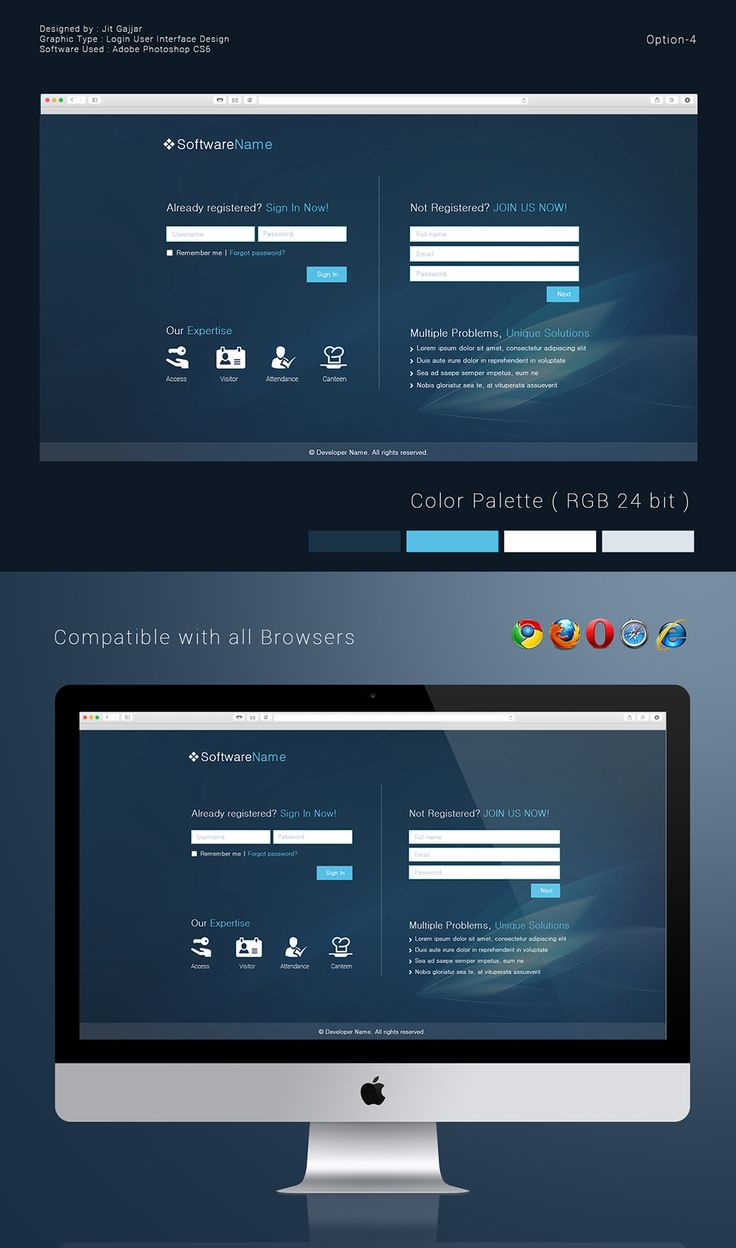 10 Images About Login Screen Ui On Pinterest Behance