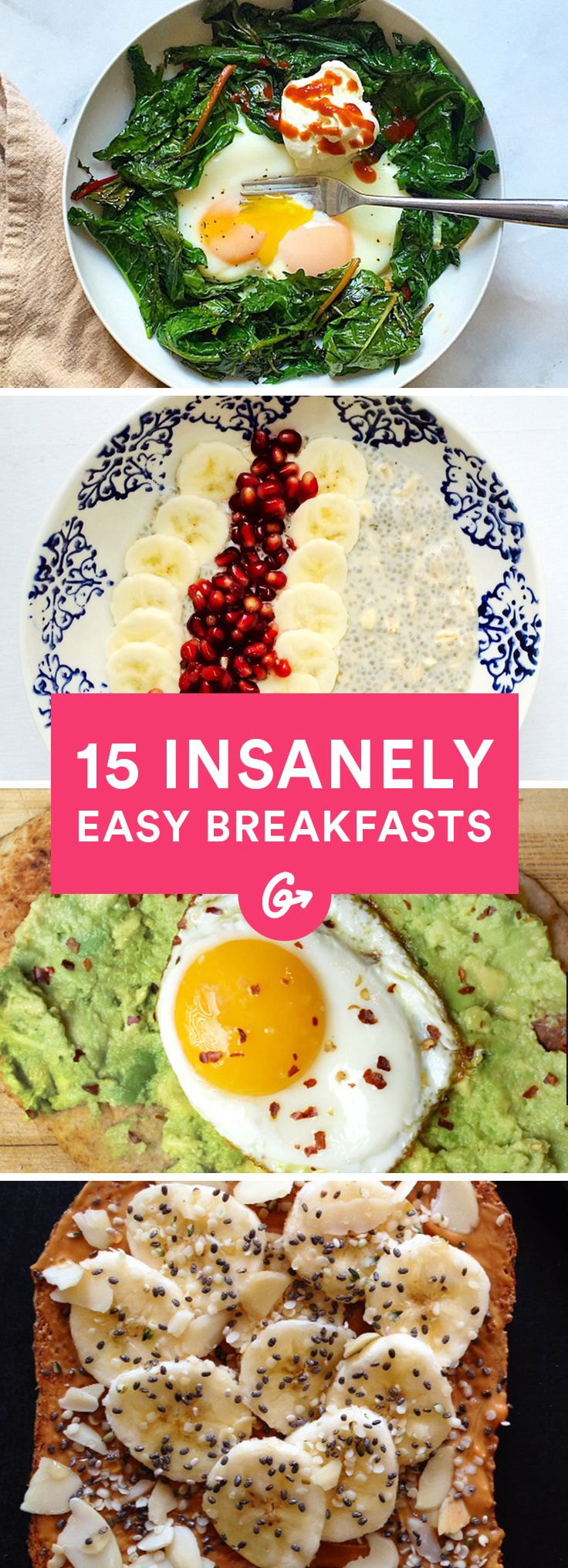 Check out their go-to healthy recipes that are perfect to make on your busiest mornings. #breakfast #easy #quick http://greatist.com/eat/insanely-easy-blogger-breakfasts