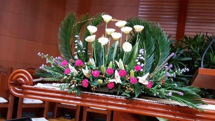 교회꽃꽂이 성전꽃꽃이 7월 꽃꽂이 교회 꽃꽂이 예쁜게 하는법