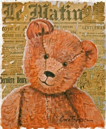 belle image #teddy #vintage #toy