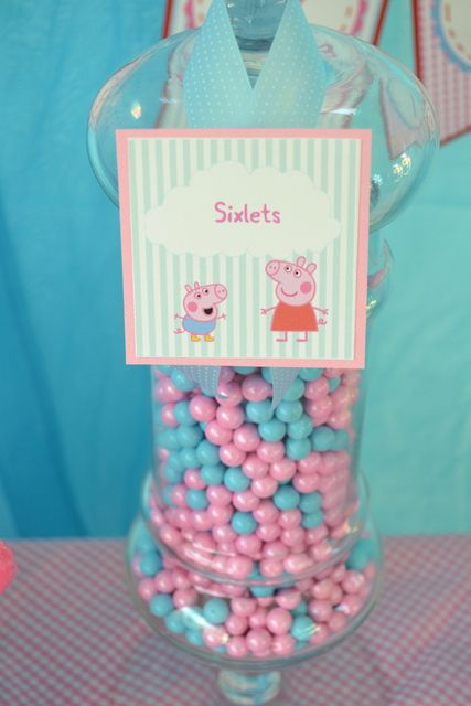 Sixlets at a Peppa Pig Party #peppapig #party