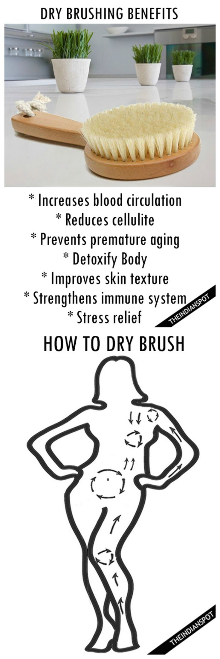 Dry brush your skin for many great benefits ♡