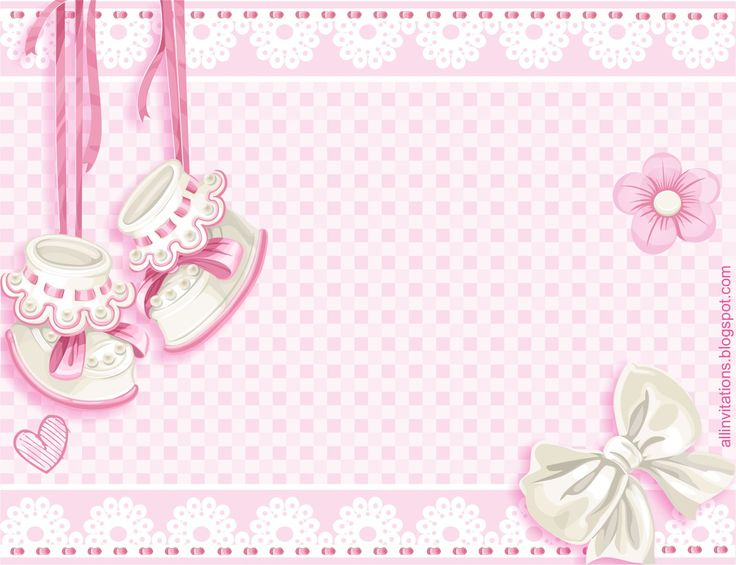 Plantilla invitacion baby shower zapatitos niña