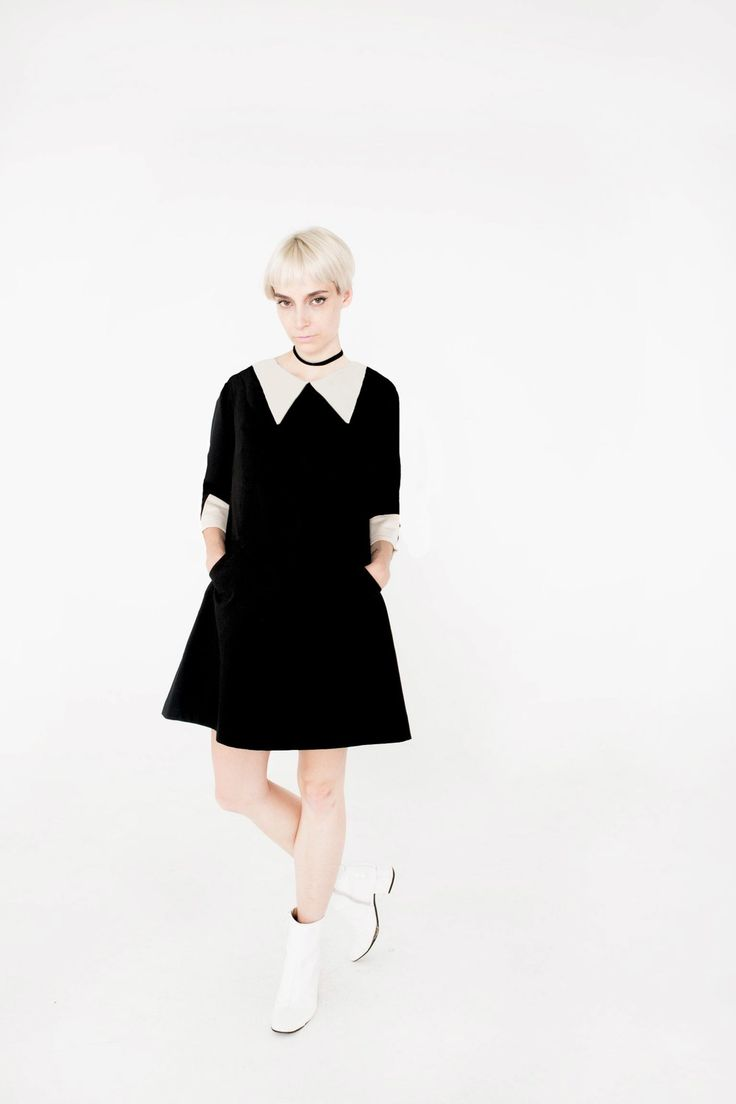 WEDNESDAY ADDAMS HALLOWEEN DRESS POINTY COLLAR - Available in Round Collar also. HANDMADE and 3 DAY DELIVERY - CUSTOM AVAILABLE AS WELL WWW.FRENCHIEYORK.COM