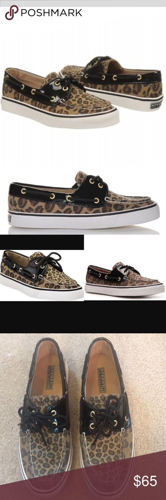 Sperry Top-Sider Biscayne Leopard Boat Shoes Black 🎉SALE Sperry Top-Sider Biscayne Leopard Boat Shoe, Size 7 1/2,  Leopard print fabric upper with patent black trim Topline lacing 2-eye lace-up closure Flexible rubber sole. In very good condition. Please ask any questions  💲Open To Offers💲 🚫No Trades🚫 📦Ask About Bundle Discounts💰 Sperry Top-Sider Shoes Flats & Loafers