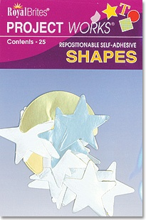 Royal Brites Foil Poster Stars and Moons, Self-adhesive, 25 shapes/pack, $3.99, available at TheRoyalStore.com
