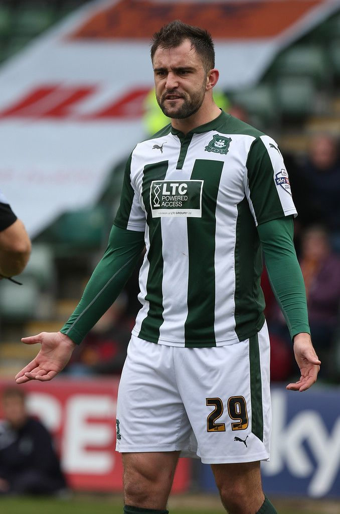 Peter Hartley of Plymouth Argyle in action during the Sky Bet League Two match between Plymouth Argyle and Northampton Town at Home Park on March 7, 2015.