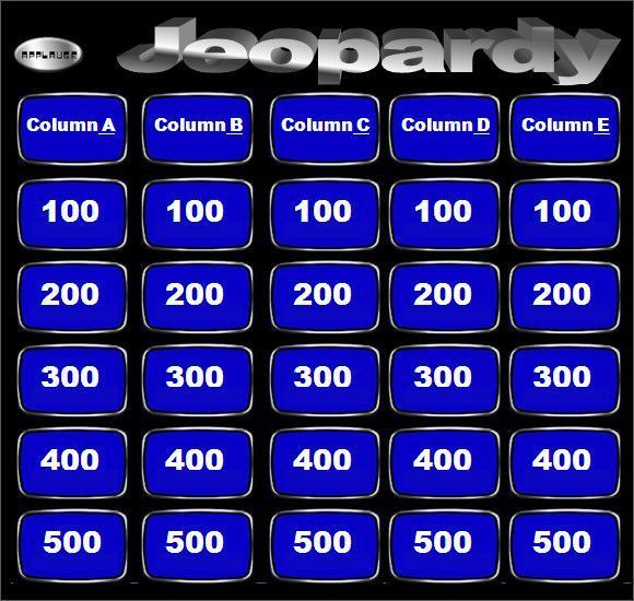 Game Design Document Template Newest Blank Jeopardy Template 9
