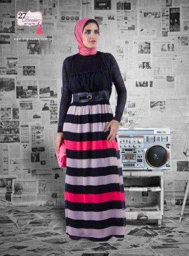 Feminine floral maxi dresses in hijab   Just Trendy Girls