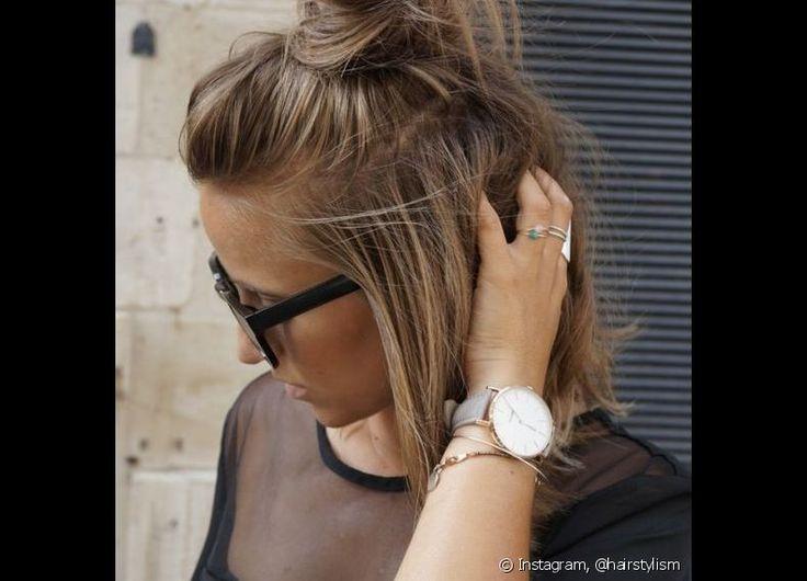 O half bun é um dos penteados queridinhos do hairstylist Fil Freitas