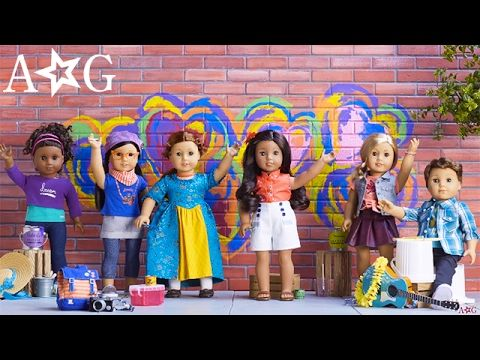 More characters to love! American girl released 5 new characters and brought back Felicity from the archives. 4 of the new dolls are contemporary. They take place in modern times. While Nanea's stories take place in World War ll. Felicity is also a historical character. She is set in 1774.