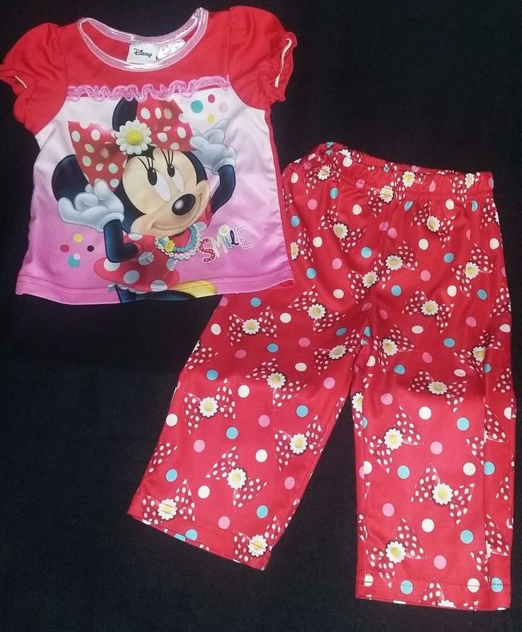 Minnie Mouse PJ, Pajamas Set. Red & Pink 18 Months *B20* | Clothing, Shoes & Accessories, Baby & Toddler Clothing, Girls' Clothing (Newborn-5T) | eBay!