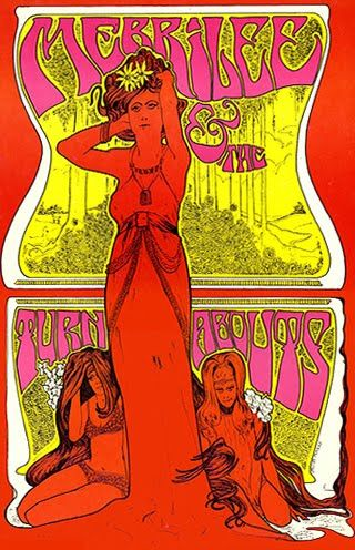 merrilee and the turnabouts .......   concert poster .......  by ........    BOB MASSE .... 1967