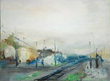 "Saatchi Art Artist Monika Vitanyi; Painting, ""Bahnhof IX."" #art"