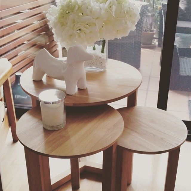 Clean and simple. @nette_86 brings a touch of Scandi-inspired design to her home with our Stockholm Nest of 3 tables #freedomaustralia #free