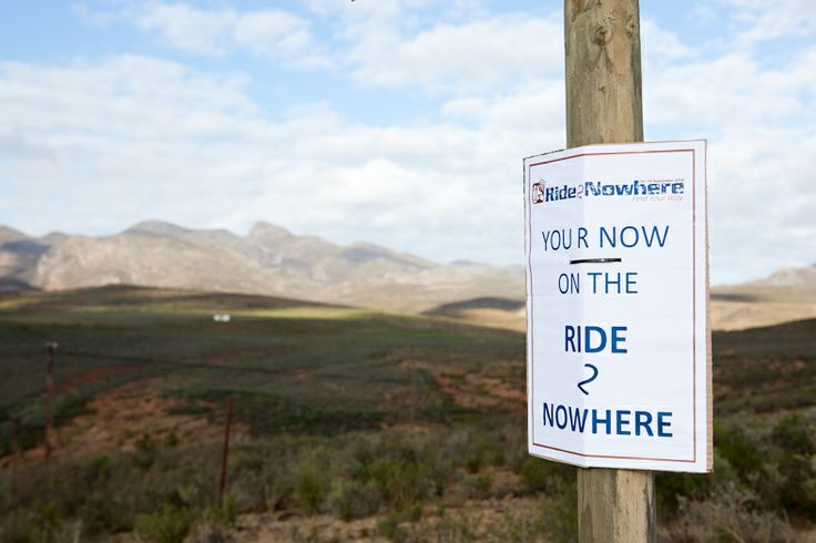 You're on the Ride2Nowhere ...