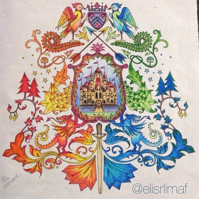 Johanna Basford Colouring Coloring Books Telescope Castles Pencil Enchanted Forest Garden
