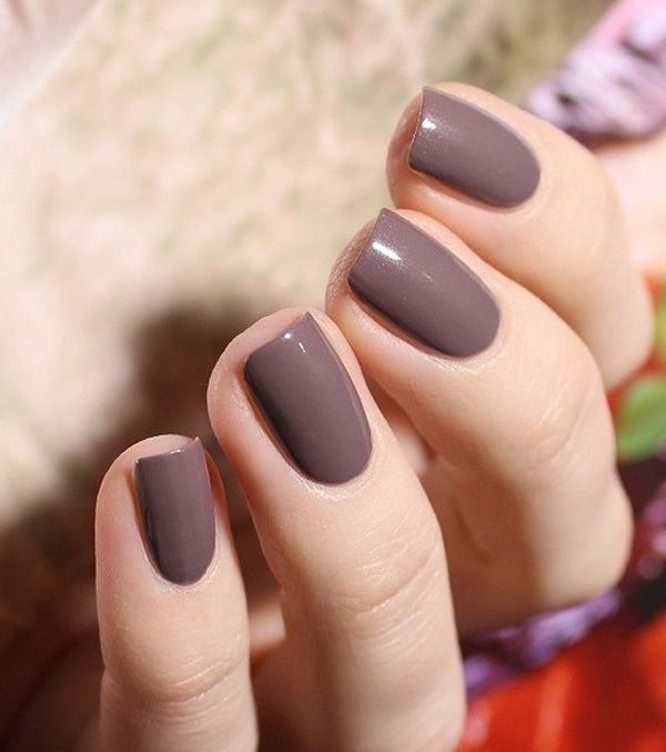Elegant gary nail - Matte brown gray nails. For a more elegant choice for a matte colored nail art, this would be a great choice that can go with just about any season.