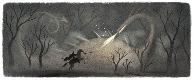 Google Doodle - St George's Day 23 April 2014, the feast day of Saint George and the National Day for England.