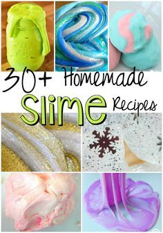 Here are 30+ Homemade Slime Recipes for your gross and amazing pleasure. Have fun!