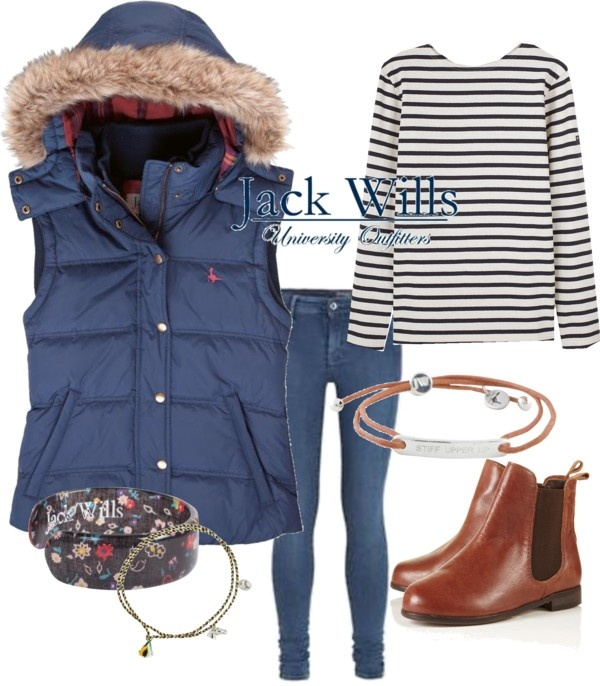 """My new Jack Wills Gilet"" by sophstyle on Polyvore"