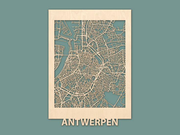 Citymap Antwerpen Berken (50x70) RENDER