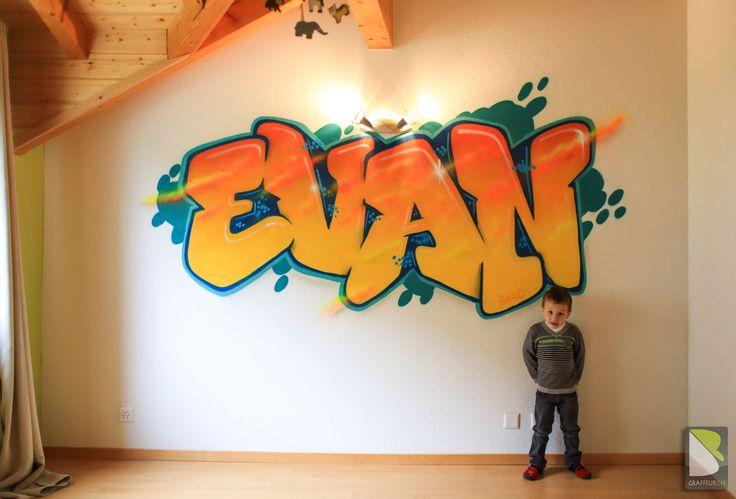 chambre graffiti suisse evan enfant chambre mathis pinterest graffiti. Black Bedroom Furniture Sets. Home Design Ideas