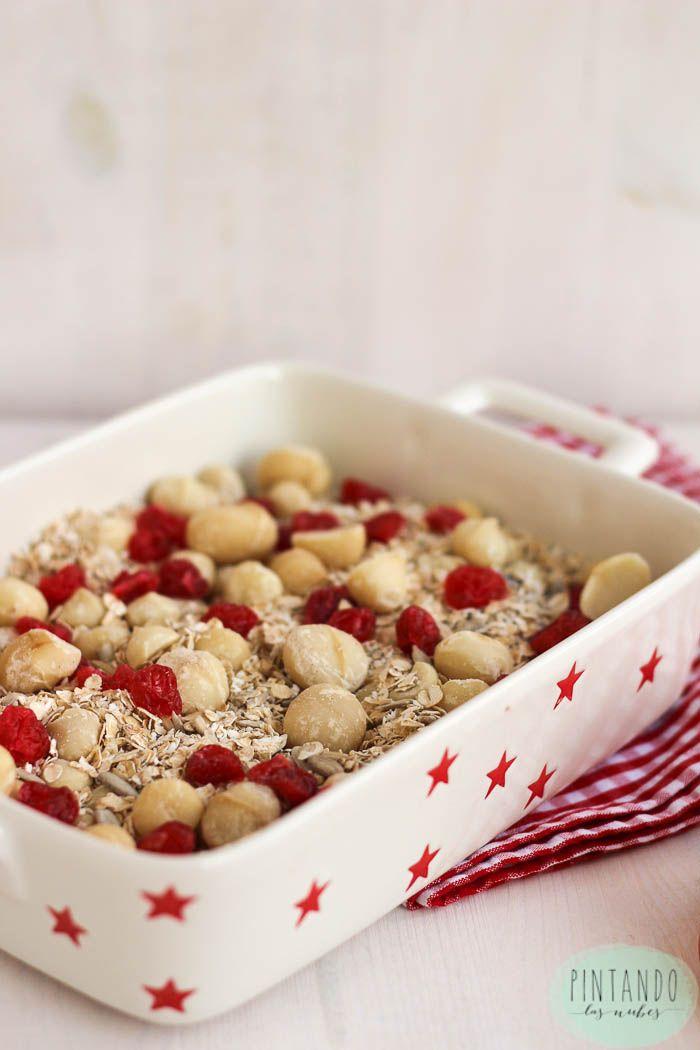 Desayuno de domingo ( granola de avena y nueces de macadamia)