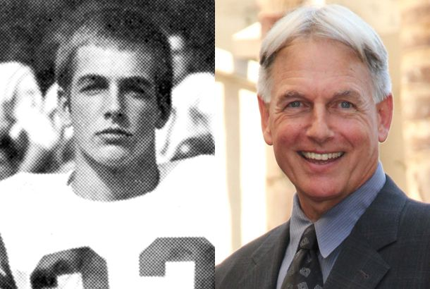 Mark Harmon THEN:when he quarterbacked for UCLA Bruins and now.