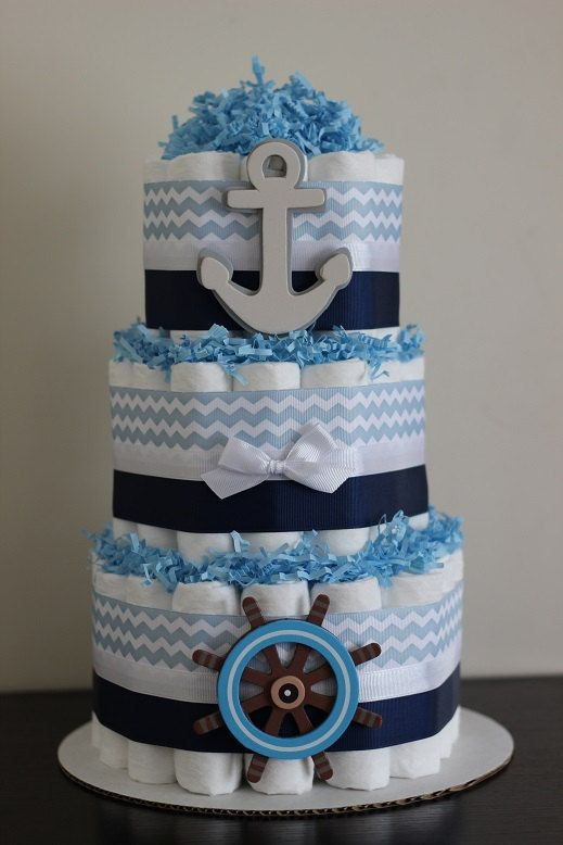 Baby Shower Nautical Tarta de Pañales