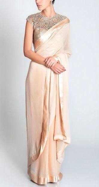 Offwhite color Pure Crepe Saree