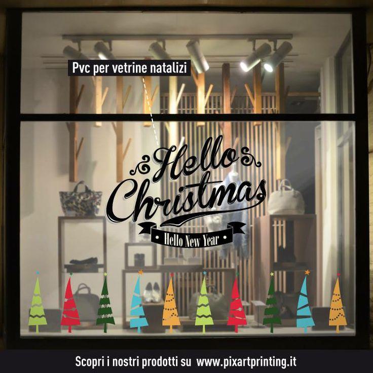 PVC per vetrine natalizi