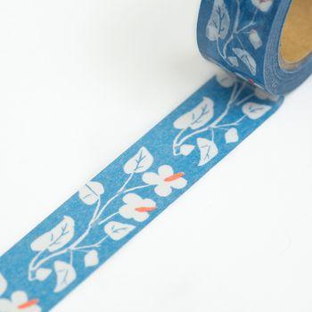 竹久夢二『どくだみ』の図案が和紙テープに。初夏のさわやかな日差しの中、木陰に白い十字の花を咲かせるどくだみが、可憐に描かれています。