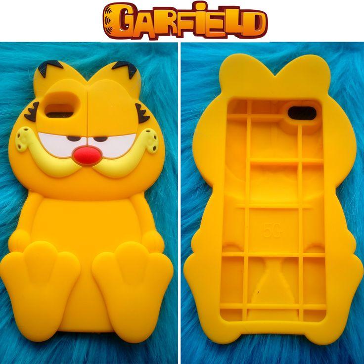 El divertido Garfield en funda de silicona en 3D para tu Iphone 5/5S